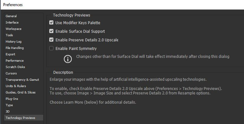 Enable Preserve Details 2.0 Upscale