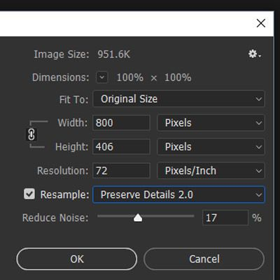 Preserve Details 2.0 option